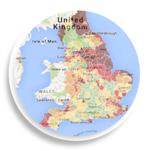 UK Heat Mapped, Social Indicator, explore