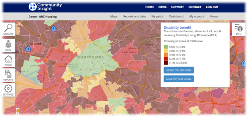 Community Assets with Social Indicator- Disability Benefits